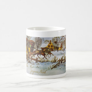 Joyeux Noel - Merry Christmas Vintage Horses Coffee Mugs