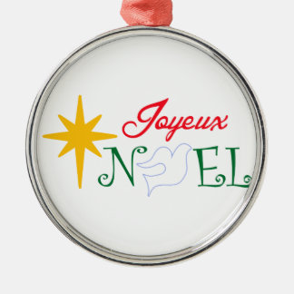 Joyeux Noel Metal Ornament