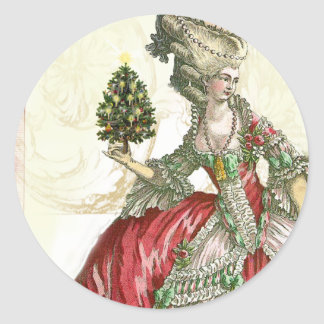 Joyeux Noel Pegatina Redonda