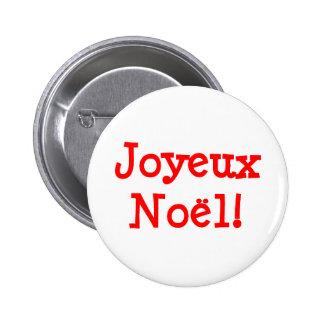 Joyeux Noel Pin Redondo 5 Cm