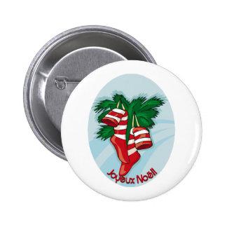 Joyeux Noel Pin Redondo De 2 Pulgadas