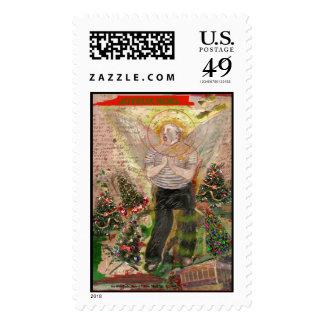 Joyeux Noel Postage Stamp