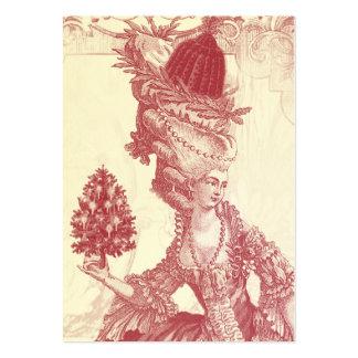 Joyeux Noel (rouge)  Ivory Festive Gift Tag Large Business Card