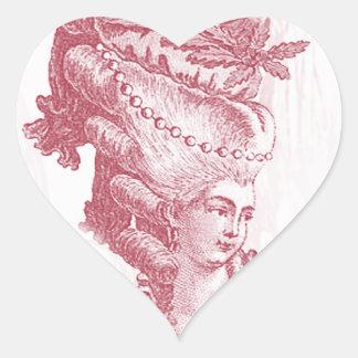 Joyeux Noel (rouge) Heart Sticker