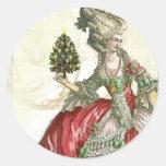 Joyeux Noel Round Stickers