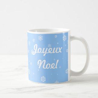 Joyeux Noel Snowflakes Coffee Mugs