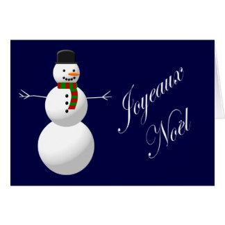 Joyeux Noel - Snowman Cards
