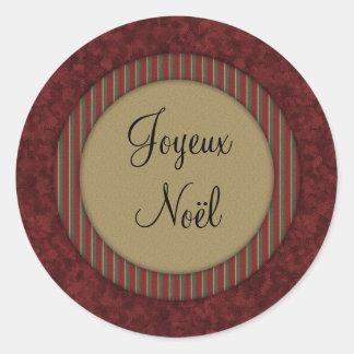 Joyeux Noël Round Stickers