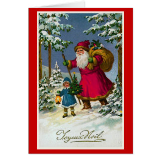 """ Joyeux Noel"" Vintage French Christmas Card"