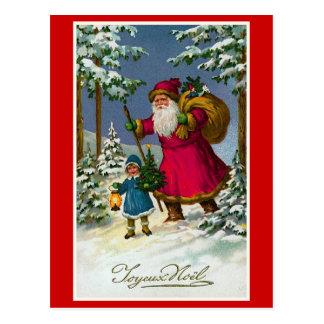 """ Joyeux Noel"" Vintage French Christmas Postcard"