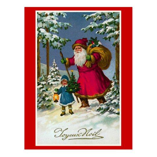 joyeux noel vintage french christmas postcard. Black Bedroom Furniture Sets. Home Design Ideas