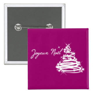Joyeux Noël with Christmas Tree Button