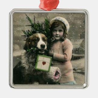 Joyeux Noel with Snowflakes Ornament