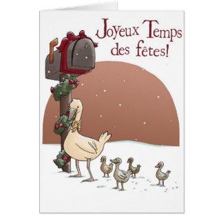 Joyeux Temps des fêtes Greeting Card