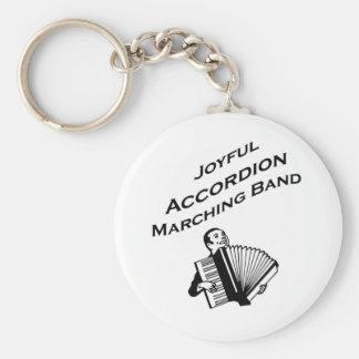 Joyful Accordion Marching Band Keychain