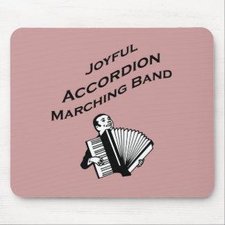 Joyful Accordion Marching Band Mousepads