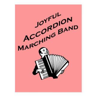 Joyful Accordion Marching Band Postcard