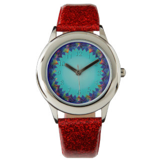Joyful and Bright Teal Glow Weave Wrist Watch