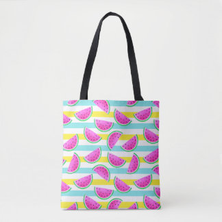 Joyful and Colorful Watermelons Pattern Tote Bag