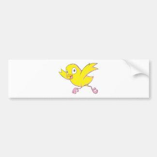 Joyful Baby Chicken Bumper Sticker