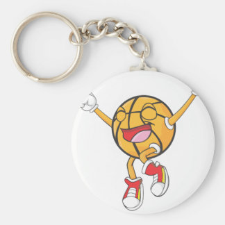 Joyful Basketball Champion Basic Round Button Keychain
