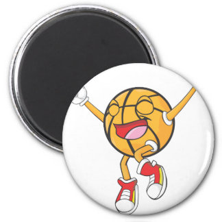 Joyful Basketball Champion Magnet