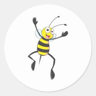 Joyful Bee Classic Round Sticker