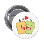 Joyful Bell Pepper Lovers Pinback Buttons