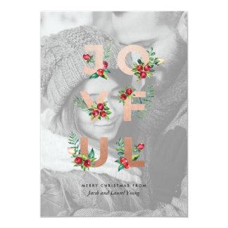 JOYFUL Botanical Typography Holiday Card
