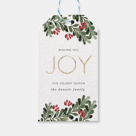 Joyful Boughs of Holly Gift Tags