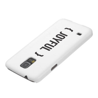 Joyful - Bracketed - Black and White Galaxy S5 Case