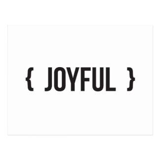 Joyful - Bracketed - Black and White Postcard