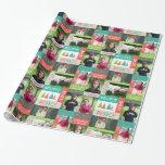 Joyful & Bright Holiday 5 Photo Collage Gift Wrap
