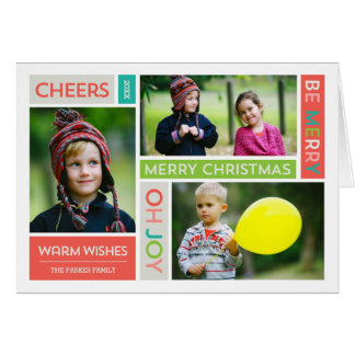 Joyful & Bright Holiday Photo Greeting Card