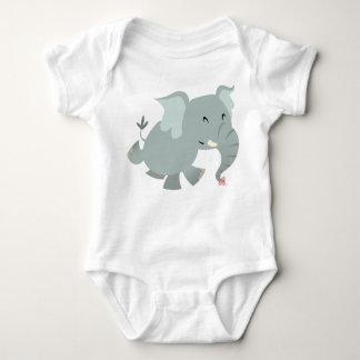 Joyful Cartoon Elephant Baby Apparel Baby Bodysuit