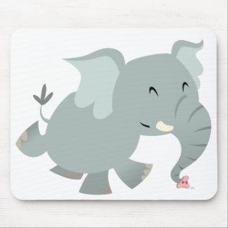 Joyful Cartoon Elephant Mousepad