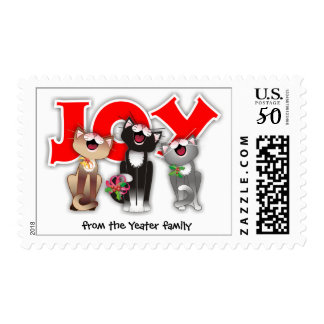 Joyful Cats postage