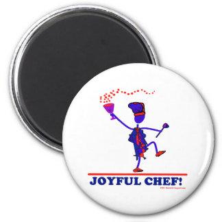 Joyful Chef 2 Inch Round Magnet