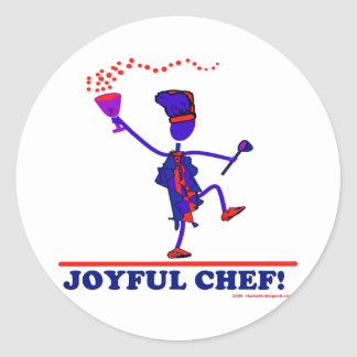 Joyful Chef Classic Round Sticker
