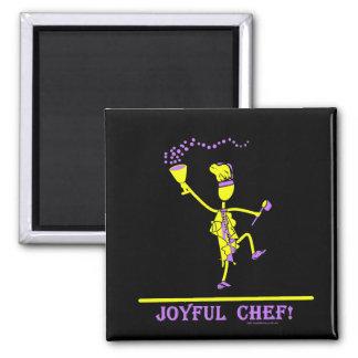 Joyful Chef Hot Yellow Fridge Magnets