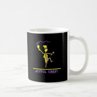 Joyful Chef Hot Yellow Classic White Coffee Mug