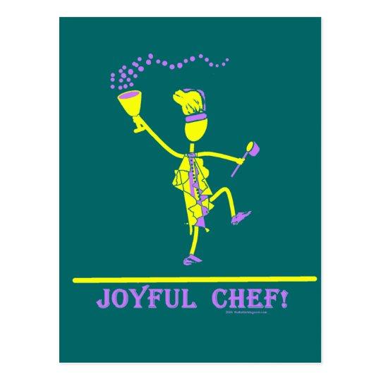 Joyful Chef Hot Yellow Postcard