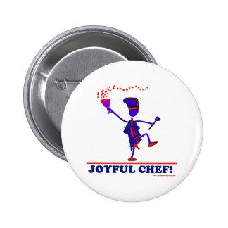 Joyful Chef Pinback Button