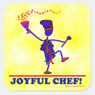 Joyful Chef Square Sticker