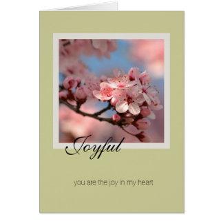 Joyful Cherry Blossom Card