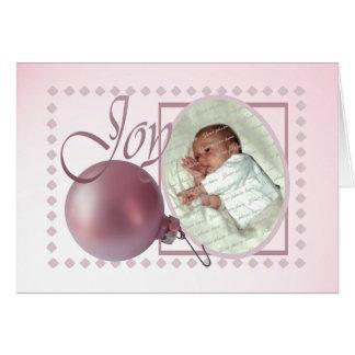 Joyful Christmas Baby Birth Greeting Card