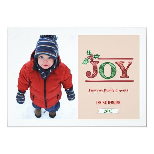 Joyful Christmas Greeting Photo Card