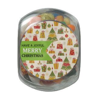 Joyful Christmas Trees Jelly Belly™ Glass Jar