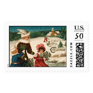 Joyful Christmas Vintage Christmas Stamps