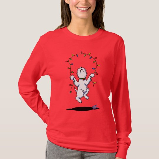 Joyful Christmas Westie Dog (dark apparel) Shirt